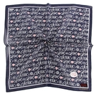 CLATHAS滿版字母印花純綿帕領巾(海軍藍)989265-18