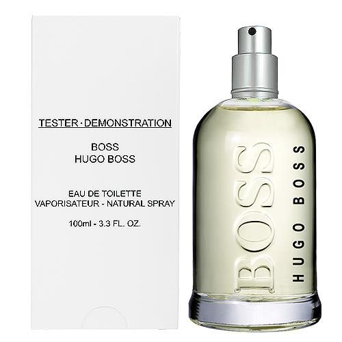 【HUGO BOSS】BOTTLE 自信 男性淡香水 100ML TESTER-環保盒無蓋