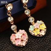 心花朵朵開可愛造型鑲水鑽手機耳機塞防塵塞手機吊飾掛飾