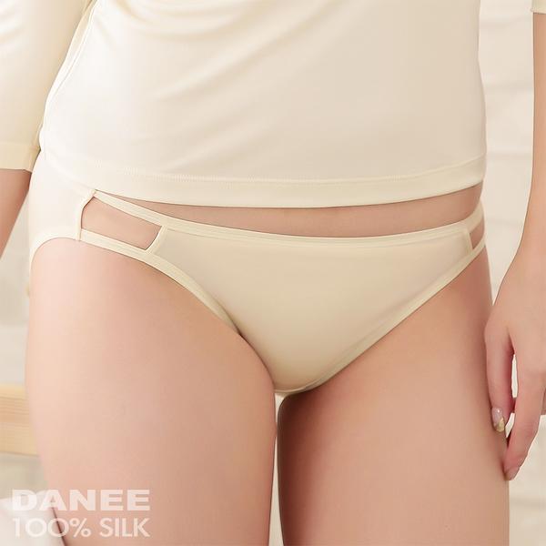 【岱妮蠶絲】1A0260E純蠶絲42針70G側鏤空低腰三角內褲(可可)