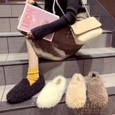 豆豆鞋女韓版加絨棉鞋冬季平底外穿一腳蹬毛毛鞋【繁星小鎮】