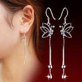 鍍銀 飾品蝴蝶耳線耳墜 耳飾 品質耳環【多多鞋包店】s286