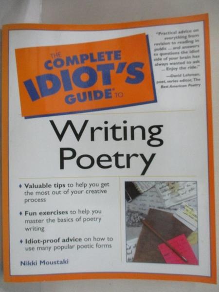 【書寶二手書T1/原文小說_EFC】The Complete Idiot's Guide to Writing Poetry_Moustaki, Nikki