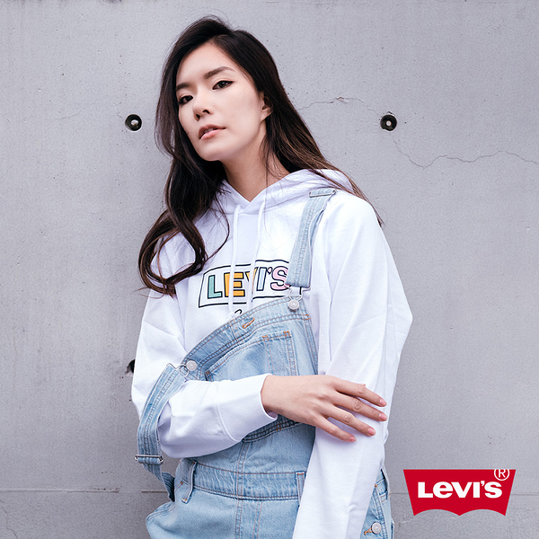 Levis 女款 牛仔吊帶褲 / Baggy復古寬鬆版型 / Lyocell天然環保纖維