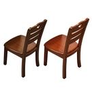 實木餐椅靠背椅子家用白色簡約現代中式原木...