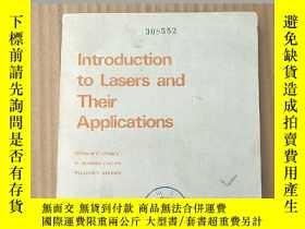 二手書博民逛書店introduction罕見to lasers and their applications(P3679)Y1