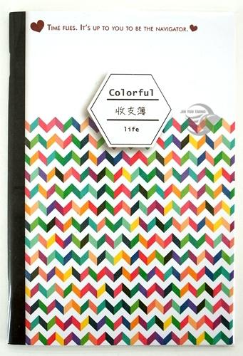 【金玉堂文具】愛心 彩色鋸齒設計 記帳本 存摺收支簿 CASH BOOK
