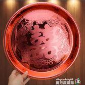 喜慶結婚婚慶用品敬茶托盤喜糖果盤盒敬茶杯套裝茶盤新娘龍鳳茶具 魔方數碼館igo