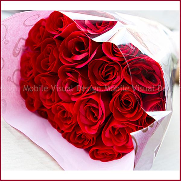 [此情不渝]可抽取20朵香皂玫瑰花花束(4色可選)-幸福朵朵 七夕情人節禮物/生日禮物/結婚紀念日
