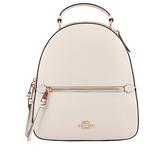 【COACH】PVC拚十字紋皮革口袋後背包(卡其/白色) F76622 IMDQC