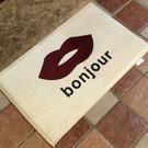 bonjour嘴唇圖案地墊(短) 門墊 ...