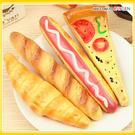 文具 披薩熱狗牛角麵包食物造型圓珠筆 冰箱貼