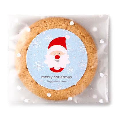 【發現。好貨】「聖誕優惠買一送一」韓國藍色聖誕老公公圓形歡樂聖誕封口貼 封口貼6枚