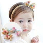 UNICO 韓版 兒童可立式球球蝴蝶結髮帶