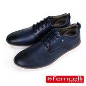 【ferricelli】Koleos壓紋牛皮綁帶男仕休閒鞋  海軍藍(F51225-DBU)