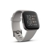 Fitbit Versa 2 一卡通智慧運動手錶 霧灰框石色錶帶