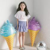 女童半身裙韓版夏季細條紋中大童夏款拼接百褶短裙 JD5493【KIKIKOKO】