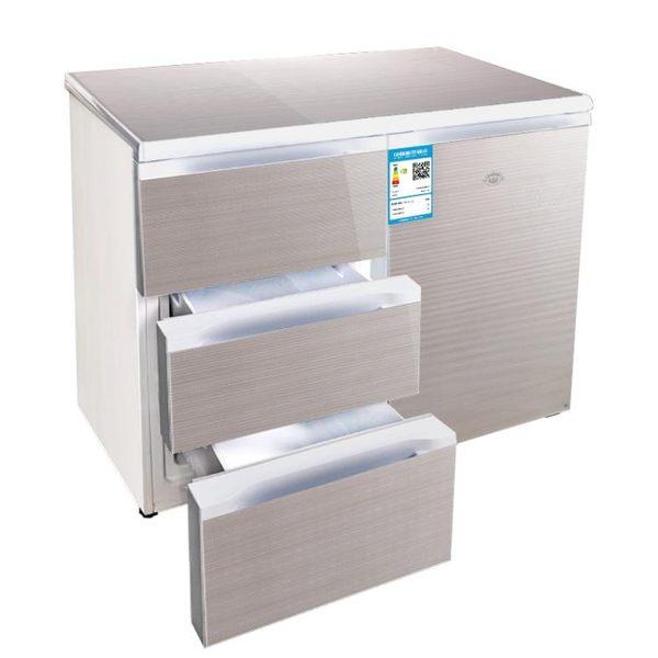 BCD-210CV 臥式家用抽屜式嵌入式櫥櫃節能靜音銅管冰箱