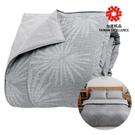 GP石墨烯遠紅外線寢具【鋪棉兩用被】(北歐風情-銀白灰/湖水綠) 強強滾