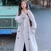 風衣女2021新款韓版洋氣秋季時尚氣質顯瘦百搭休閑長款外套ins潮 快速出貨