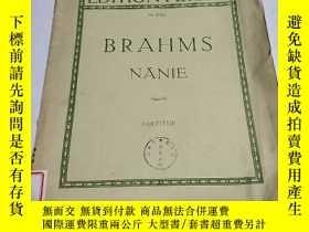 二手書博民逛書店BRAHMS罕見NÄNIE:輓歌作品82號(外文) 不好Y212