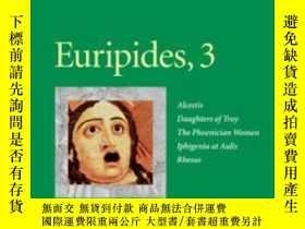 二手書博民逛書店Euripides,罕見3 (penn Greek Drama Series)Y255562 Euripide