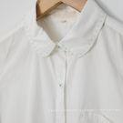襯衫   領綠車線短袖棉質襯衫   單色原單-小C館日系