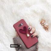 酒紅絲絨三星S8 手機殼Note8保護套S6 S7edge磨砂軟殼C5/C7復古女·樂享生活館