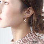 珍珠耳環女純銀會動的耳釘女氣質個性百搭小耳墜精致超仙耳飾 街頭布衣