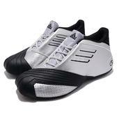 adidas 籃球鞋 TMAC 1 銀 黑 經典復刻 魔術隊 男鞋 運動鞋【PUMP306】 G59092
