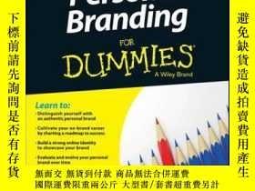 二手書博民逛書店Personal罕見Branding For Dummies, 2nd EditionY410016 Susa
