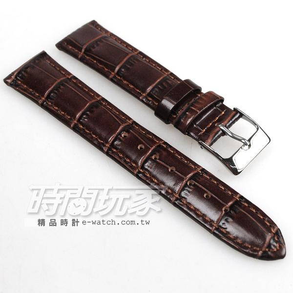18mm錶帶 真皮錶帶 皮革錶帶 B18-DW深咖竹