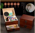 中國風針線包針線套裝家用針線盒手工手縫實木多功能可愛便攜迷你
