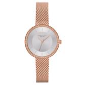 Kenneth Cole 悅美時尚晶鑽米蘭腕錶-KC50198004