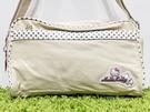 【震撼精品百貨】Hello Kitty 凱蒂貓~日本三麗鷗 kitty 斜背袋/側背包-卡其色#02250