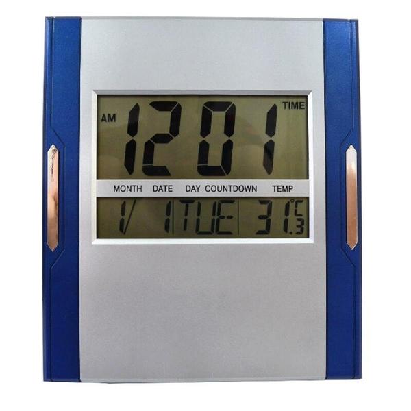 【DH465】萬年曆電子鐘 大字LCD數顯液晶顯示掛鐘 璧鐘 溫度計 計時器 鬧鐘 床頭時鐘 EZGO商城