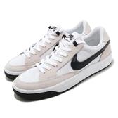 Nike 滑板鞋 SB Adversary 白 黑 麂皮 男鞋 女鞋 復古 運動鞋 休閒鞋 【PUMP306】 CJ0887-100