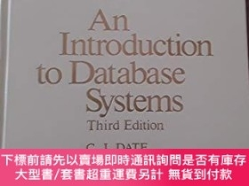 二手書博民逛書店An罕見introduction to database systems (Addison-Wesley syst