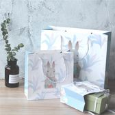 少女簡約禮品袋高檔禮物紙袋子手提袋生日節日情人節卡通伴手禮袋  熊熊物語