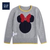 Gap女幼童童趣迪士尼圓領針織上衣519106-麻灰色