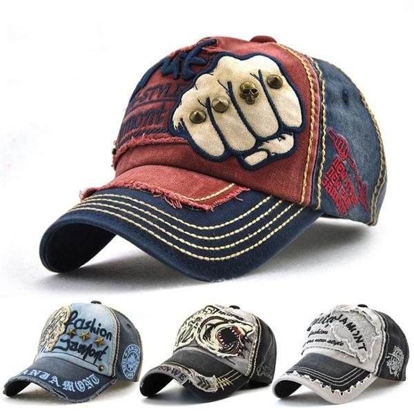 帽子男潮春夏韓版百搭鴨舌帽復古時尚做舊牛仔帽休閒遮陽棒球帽女 印巷家居