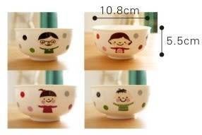 [協貿國際]  可愛創意陶瓷碗餐具套裝(四只1套價)