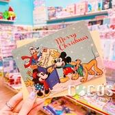 正版 迪士尼 DISNEY 米奇米妮 聖誕節卡片 耶誕卡片 大卡片 附信封 B款 COCOS XX001