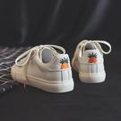 休閒鞋 小白鞋女春季2019新款百搭正韓學生街拍白鞋休閒夏季透氣平底板鞋