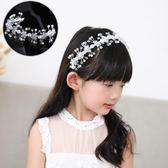 可調節髮箍女童頭花兒童花朵頭飾小女孩演出髮飾品公主壓髮髮卡