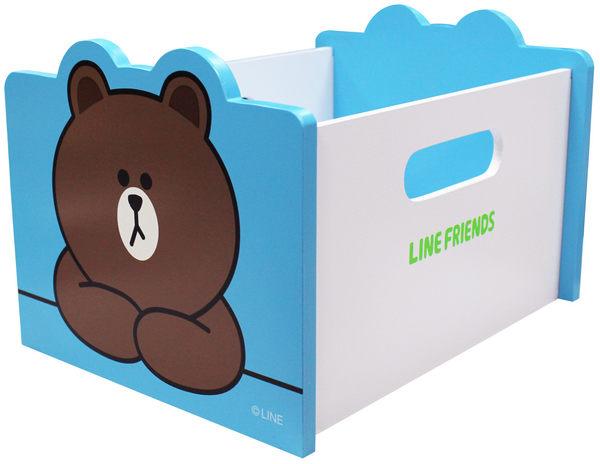 【震撼精品百貨】LINE FRIENDS 兔兔、熊大~收納盒-熊大-藍【共1款】