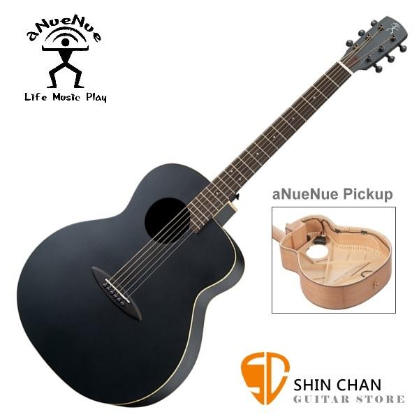 aNueNue LL16 E 黑鳥/41吋黑色吉他可插電雲杉面板/桃花心木側背板(面單板) 附多樣配件