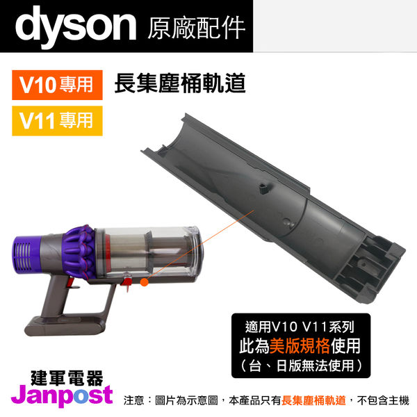 Dyson 戴森 V10 V11 SV12 SV14 美版 集塵桶配件 軌道 滑軌 卡榫/原廠盒裝/建軍電器