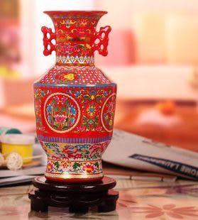 景德鎮陶瓷器琺瑯彩花瓶