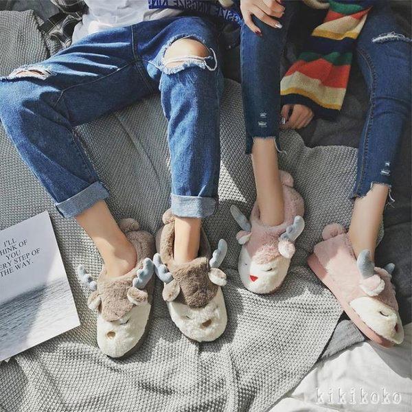 中大尺碼月子鞋 棉拖鞋女冬季包跟可愛韓版厚底居家鞋室內軟底防滑毛毛拖鞋 DR1154 【KIKIKOKO】